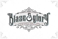 Blaze & Glory Typeface + Extras by Zerowork Studio on @creativemarket