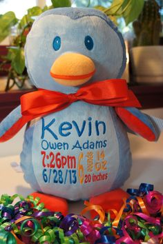 Personalized Baby Gift Baby Cubby Sugar by CelebrateWithThread, $30.00