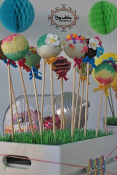 Pop cakes multicolores.