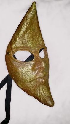 Moon mask in leather gold costume llarp by MaschereFabula on Etsy