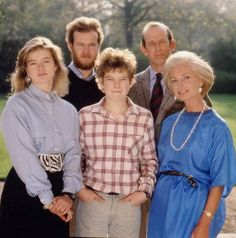 Portrait of the Duke of Kent and his family: Katherine, his wife and his children George, Helen and Nicholas.