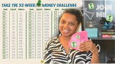 Easy Way To Save Money::52 Week Money Challenge