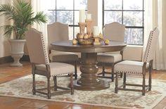 Coaster Willem Round Single Pedestal Dining Table - Coaster Fine Furniture
