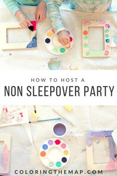 The Non-Sleepover Slumber Party - Coloring the Map Not ready for an actual sleepover party yet? Try an unslumber party - perfect for 5 year old girls and up! (Also called nonsleepover party). ideas for 6 year olds 9 Year Old Girl Birthday, Girls Birthday Party Games, Slumber Party Birthday, Sleepover Birthday Parties, Girl Sleepover, Birthday Activities, Girl Birthday Themes, Party Activities, 8th Birthday