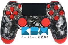 Red Reaper Custom PS4 Controller - KwikBoy Modz #ReaperSkulls #CustomPS4Controller #PS4 #PS4Controller