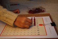 The Adventures of Bear: Multiplication - skip counting and Montessori materials - DIY Multiplication Bead Board with Push Pins
