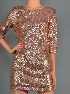 Rose Gold Sequin Party dress $36.00