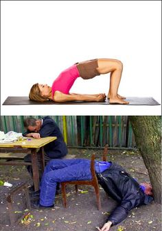 A simple fun way yoga can be perceived.