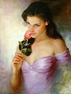 japanese women art | art-oil-paint-girls-Oil-Paintings-woman-in ...