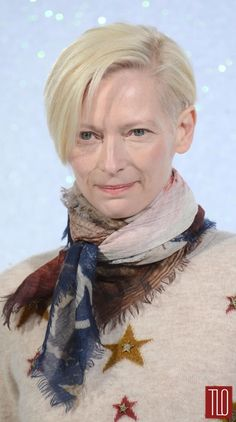 Tilda Swinton attends the Chanel show as part of Paris Fashion Week Haute Couture Spring/Summer 2014 in Paris, France.