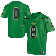 Notre Dame Fighting Irish Kelly Green Shamrock Series Premier Football Jersey #notredame #irish #football