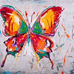 Butterfly Painting, Butterfly Watercolor, Butterfly Art, Dyi Painting, Home Design Decor, Art Studios, Painting Techniques, Art World, Art For Kids