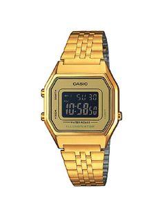 Casio Damen-Armbanduhr Casio Collection Digital Quarz Edelstahl LA680WEGA-9BER - http://uhr.haus/casio/casio-damen-armbanduhr-casio-collection-digital