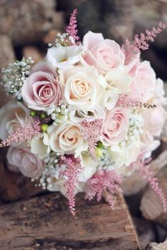 Beautiful wedding flowers - Rather than elaborate and pricy floral arrangements,. Beautiful wedding flowers – Rather than elaborate and pricy floral arrangements,… – Bridal Flowers, Flower Bouquet Wedding, Bouquet Flowers, Astilbe Bouquet, Bouqets, Floral Flowers, Pink Rose Bouquet, Pink Roses, Vintage Wedding Bouquets