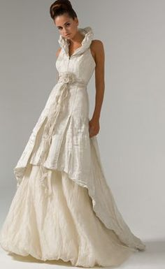 Magnificent A-line Ruched Two-layer Floor-length Wedding Dress