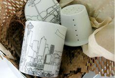 Skyline Personalized Tea Mug Set