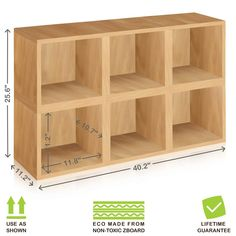 Way Basics Tool-Free Assembly zBoard paperboard Storage Cubes in Natural Wood Grain (Set of 6 Cubes) Cubby Organizer, Diy Wood Projects Furniture, Cubby Storage, Wooden Cubby, Cube Storage Shelves, Diy Toy Storage, Cube Shelves, Diy Cubbies Storage, Cubicle Storage