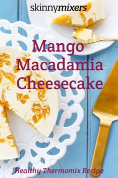 Skinnymixer's Thermomix Mango Macadamia Cheesecake will impress your guests, yet you don't have to have cake decorating skills to make this look amazing. Healthy Cheesecake, Mango Cheesecake, Cheesecake Recipes, Healthy Desserts, Dessert Recipes, Mango Recipes, Sweet Recipes, Lactose Free Cheese, Desert Recipes