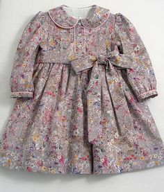 This item is unavailable Liberty Wild Flowers Dress by patriciasmithdesigns on Etsy Girls Frock Design, Dress Designs For Girls, Baby Dress Design, Cute Girl Dresses, Toddler Girl Dresses, Little Girl Dresses, Toddler Girls, Baby Frocks Designs, Kids Frocks Design