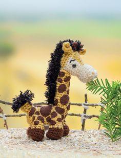 "Giraffe crochet pattern from the book ""Crochet a Zoo"""