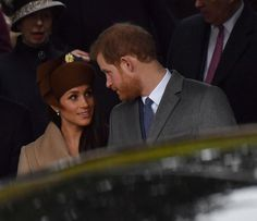 Prince Harry and Meghan Markle attend Christmas Day Church service at Church of St Mary Magdalene in King's Lynn, England - December 2017