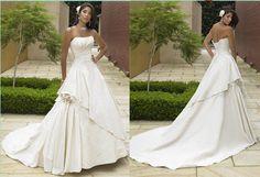 Luxury White/Ivory Applique Custom Made Wedding Dresses Size 6 8 10 12 14 16 18+