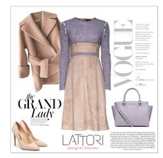 """LATTORI dress"" by water-polo ❤ liked on Polyvore featuring Carven, Lattori, MICHAEL Michael Kors, Rupert Sanderson, dress, dresses and lattori"