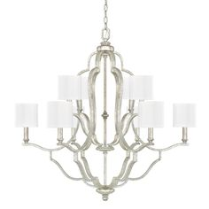 Capital Lighting C4940AS632 Blair Large Foyer Chandelier Chandelier - Antique Silver