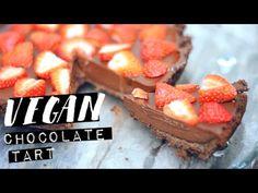 VEGAN CHOCOLATE TART RECIPE   No Bake!