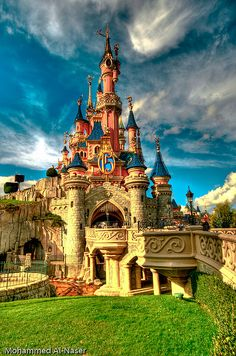 Disneyland Paris. Tobias has agreed, this is where we are going for our honeymoon after we renew our vows. And we will stay in a castle converted into B & B in the South of France.