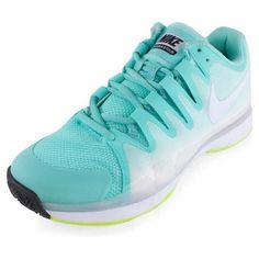 (Women`s Zoom Vapor Tour Tennis Shoes Bleached Turq and Volt. 3d54e4789