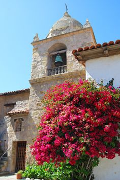 Bell Tower at the Carmel Mission ~ Carmel by the Sea, California. I love this mission. California Missions, California National Parks, California Coast, California Dreamin', Places To Travel, Places To See, Heiliges Land, Terra Santa, Carmel By The Sea