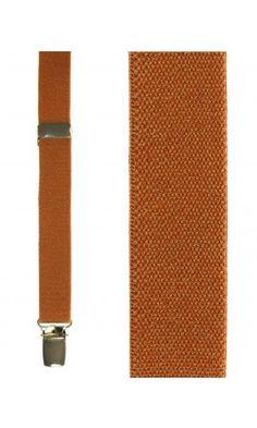 Orange Oxford Suspenders