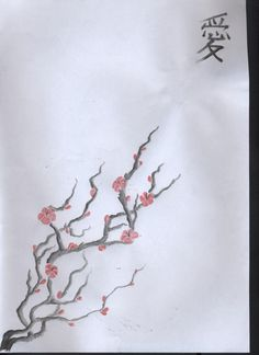 Asian style cherry blossom picuture