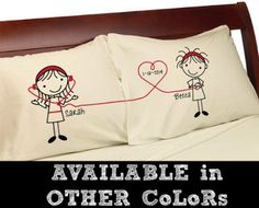 Listen to My Heart Lesbian Couple Gift Pillowcases (Cream Standard) Girlfriend Romance Valentines Anniversary Couples Pillow Cases Wedding Romantic Gift Idea for Her Cute Stick Figures Lgbt. Review