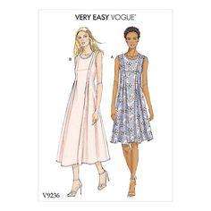 Buy Vogue Women's Dress Sewing Pattern, 9236 Online at johnlewis.com