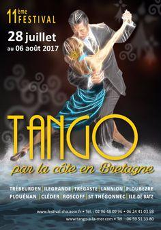 Réalisation pour le concours d'affiche pour le Festival de #tango par la côte en #Bretagne #festival #danse #formation #infographie