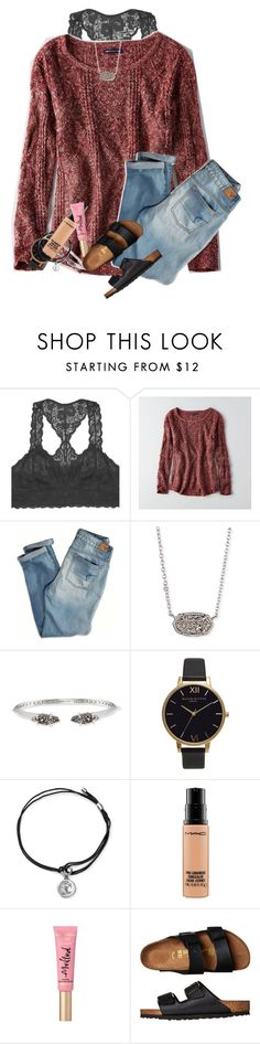 """""""Currently at the movies"""" by kyliegrace ❤ liked on Polyvore featuring beauty, Youmita, American Eagle Outfitters, Kendra Scott, Olivia Burton, Alex and Ani, MAC Cosmetics, Too Faced Cosmetics and Birkenstock"""
