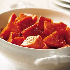 Looking for a simple, heart-healthy side this #holiday season? Roasting sweet potatoes is even easier than boiling and mashing them. Maple syrup glaze transforms this ultra-simple dish into something sublime. #EatingWell #MillionHearts