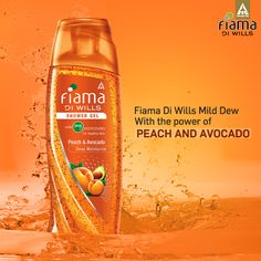 Pamper your skin with the bathing delight- Fiama Di Wills shower gel infused with extracts of Peach and Avocado. #BeYoung