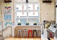 Cafe & restaurant - Auckland, New Zealand Mini Bars, Cafe Shop, Cafe Bar, Cafe Restaurant, Restaurant Ideas, Cafe Interior, Interior Design, Bicycle Cafe, Window Bars