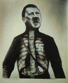 John Heartfield, Adolf Der Übermensch: Schluckt Gold und redet Blech (Adolf the…