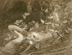 """Gaston Bussiere (French, 1862-1929), """"Nymphs"""", 1910"""