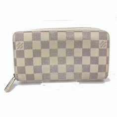 555f976e6b2e Authentic Louis Vuitton Zippy Wallet Whites Damier Azur 367019  fashion   clothing  shoes
