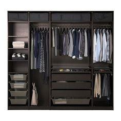 a doors ikea closet design ikea pax system ikea Bedroom Closet Design, Master Bedroom Closet, Bedroom Wardrobe, Wardrobe Design, Closet Designs, Wardrobe Ideas, Closet Ideas, Ikea Wardrobe, Wardrobe Planner