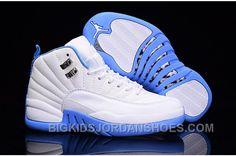 """f0e2ccc9e6e25c Air Jordan 12 GS """"University Blue"""" For Sale 2016"""