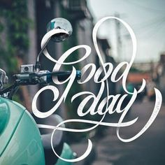 Creative Lettering, Good, Day, and Bryanikhsn image ideas & inspiration on Designspiration Typography Love, Creative Typography, Typography Quotes, Typography Letters, Graphic Design Typography, Lettering Design, Calligraphy Quotes, Calligraphy Letters, Inspiration Typographie