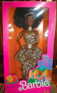 Mattel 1989 Dolls of the World Nigerian Barbie Doll NEW #DollswithClothingAccessories
