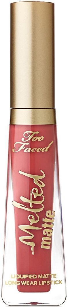 Too Faced Melted Matte Liquified Long Wear Lipstick is a long-wearing, innovative ultra-matte lipstick with the staying power of a stain and the intense color of a liquid lipstick. Lipstick Shades, Matte Lipstick, Liquid Lipstick, Lipsticks, Too Faced Melted, Magenta Hair, Melted Matte, How To Look Rich, Smooth Lips