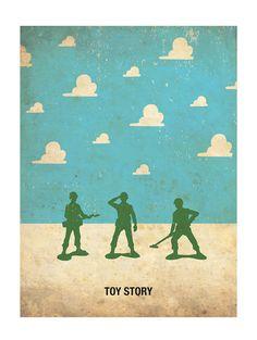 Toy Story Retro Minimalist Poster Print 11 x by PosterEmpire Disney Toys, Disney Art, Disney Pixar, Walt Disney, Festa Toy Story, Toy Story Party, Disney Movie Posters, Disney Movies, Poster Minimalista